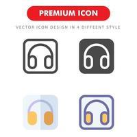 pack d'icônes de casque isolé sur fond blanc. pour la conception de votre site Web, logo, application, interface utilisateur. illustration graphique vectorielle et trait modifiable. eps 10. vecteur