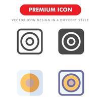 pack d'icônes de haut-parleur isolé sur fond blanc. pour la conception de votre site Web, logo, application, interface utilisateur. illustration graphique vectorielle et trait modifiable. eps 10. vecteur