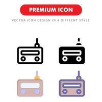 pack d'icônes radio isolé sur fond blanc. pour la conception de votre site Web, logo, application, interface utilisateur. illustration graphique vectorielle et trait modifiable. eps 10.