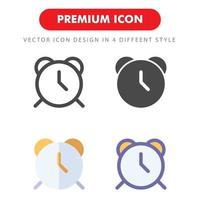 pack d'icônes d'horloge isolé sur fond blanc. pour la conception de votre site Web, logo, application, interface utilisateur. illustration graphique vectorielle et trait modifiable. eps 10. vecteur