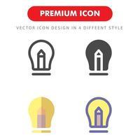 pack d'icônes de lampe isolé sur fond blanc. pour la conception de votre site Web, logo, application, interface utilisateur. illustration graphique vectorielle et trait modifiable. eps 10. vecteur