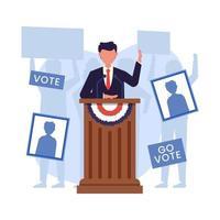concept d'élection présidentielle aux États-Unis d'Amérique