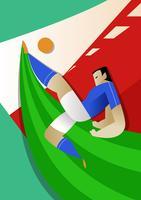 Joueurs de football de Coupe du monde Italie vecteur