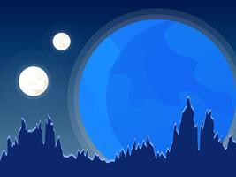 Vecteurs de Spacescape lune impressionnante vecteur