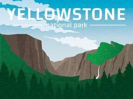 Affiche du parc national de Yellowstone