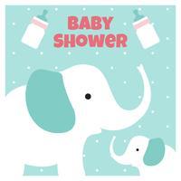 Fond de douche de bébé éléphant vecteur