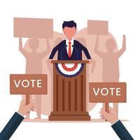 États-Unis d'Amérique, concept d'élection présidentielle vecteur