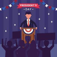 États-Unis d'Amérique, concept de la journée du président vecteur