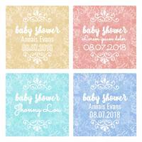 Arrière-plans de douche de bébé coloré vecteur