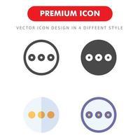 Pack d'icônes de menu points de suspension isolé sur fond blanc. pour la conception de votre site Web, logo, application, interface utilisateur. illustration graphique vectorielle et trait modifiable. eps 10. vecteur