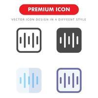 pack d'icônes de battement sonore isolé sur fond blanc. pour la conception de votre site Web, logo, application, interface utilisateur. illustration graphique vectorielle et trait modifiable. eps 10. vecteur