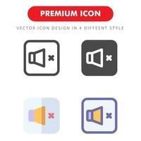 aucun pack d'icônes sonores isolé sur fond blanc. pour la conception de votre site Web, logo, application, interface utilisateur. illustration graphique vectorielle et trait modifiable. eps 10. vecteur