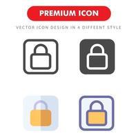 pack d'icônes de verrouillage isolé sur fond blanc. pour la conception de votre site Web, logo, application, interface utilisateur. illustration graphique vectorielle et trait modifiable. eps 10. vecteur