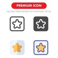 pack d'icônes préféré isolé sur fond blanc. pour la conception de votre site Web, logo, application, interface utilisateur. illustration graphique vectorielle et trait modifiable. eps 10. vecteur