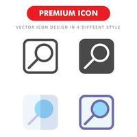 pack d'icônes de recherche isolé sur fond blanc. pour la conception de votre site Web, logo, application, interface utilisateur. illustration graphique vectorielle et trait modifiable. eps 10. vecteur