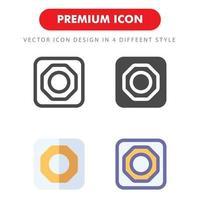 pack d'icônes de réglage avec engrenage vecteur