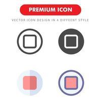 pack d'icônes d'arrêt isolé sur fond blanc. pour la conception de votre site Web, logo, application, interface utilisateur. illustration graphique vectorielle et trait modifiable. eps 10. vecteur