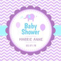 Vecteur de modèle de douche de bébé