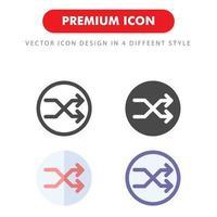 pack d'icônes shuffle isolé sur fond blanc. pour la conception de votre site Web, logo, application, interface utilisateur. illustration graphique vectorielle et trait modifiable. eps 10. vecteur