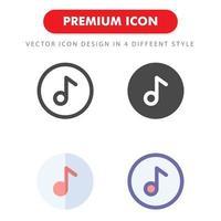 pack d'icônes de musique isolé sur fond blanc. pour la conception de votre site Web, logo, application, interface utilisateur. illustration graphique vectorielle et trait modifiable. eps 10. vecteur