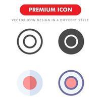 pack d'icônes d'enregistrement isolé sur fond blanc. pour la conception de votre site Web, logo, application, interface utilisateur. illustration graphique vectorielle et trait modifiable. eps 10. vecteur