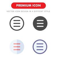 pack d'icônes de liste isolé sur fond blanc. pour la conception de votre site Web, logo, application, interface utilisateur. illustration graphique vectorielle et trait modifiable. eps 10. vecteur