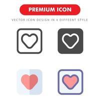 pack d'icônes d'amour isolé sur fond blanc. pour la conception de votre site Web, logo, application, interface utilisateur. illustration graphique vectorielle et trait modifiable. eps 10. vecteur