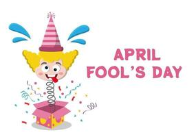 célébration heureuse journée du poisson d'avril portant un concept de design fond chapeau bouffon. illustration vectorielle vecteur
