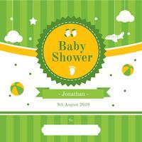 Vecteur d'invitation de douche de bébé