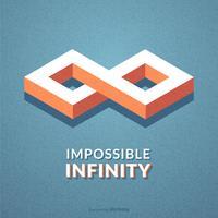 Symbole de vecteur infini impossible isométrique