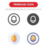 pack d'icônes de cloche isolé sur fond blanc. pour la conception de votre site Web, logo, application, interface utilisateur. illustration graphique vectorielle et trait modifiable. eps 10. vecteur
