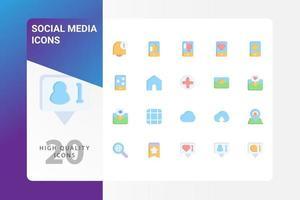 pack d'icônes de médias sociaux isolé sur fond blanc. pour la conception de votre site Web, logo, application, interface utilisateur. illustration graphique vectorielle et trait modifiable. eps 10. vecteur