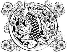 Vecteur de tatouage japonais