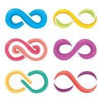 Vecteur de symbole de l'infini coloré