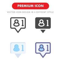 pack d'icônes de réseau social isolé sur fond blanc. pour la conception de votre site Web, logo, application, interface utilisateur. illustration graphique vectorielle et trait modifiable. eps 10. vecteur
