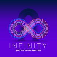 Modèle de Logo de ligne colorée infini