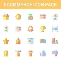 pack d'icônes de commerce électronique isolé sur fond blanc. pour la conception de votre site Web, logo, application, interface utilisateur. illustration graphique vectorielle et trait modifiable. eps 10. vecteur