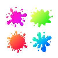 Dessin animé coloré Inkblot vecteur