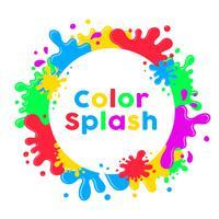 Fond de Splash Inkblot vecteur