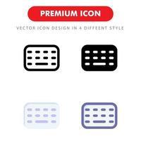 pack d'icônes de clavier isolé sur fond blanc. pour la conception de votre site Web, logo, application, interface utilisateur. illustration graphique vectorielle et trait modifiable. eps 10. vecteur
