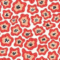 motif de forme de fleur abstraite vecteur