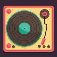 Vecteur de disques vinyle plat