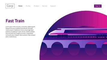 Vecteur de train en-tête de site Web