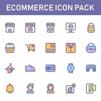 pack d'icônes de commerce électronique isolé sur fond blanc. pour la conception de votre site Web, logo, application, interface utilisateur. illustration graphique vectorielle et trait modifiable. eps 10. vecteur