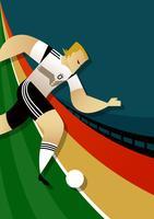 Personnage des joueurs de la Coupe du monde de football en Allemagne vecteur