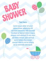 Vecteurs de fond de douche de bébé