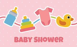 Fond de douche de bébé vecteur