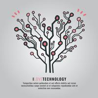 Technologie de l'amour vecteur
