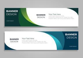Modèle de conception de bannière corporative vecteur