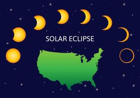 USA Eclipse solaire vecteur